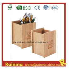 Suporte de caneta de bambu para fornecimento de escritório