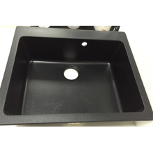 China Manufacturer Square Single Bowl Granite Sink (HB8208)