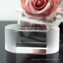 Vente en gros nouvelle arrivée cristal ovale forme presse-papier vierge