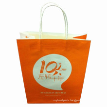 Kraft Paper Shopping Bag with Customer Logo