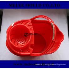 Cubeta plástica do espanador da mercadoria com molde do espremedor