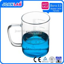JOAN LAB 200ML Borosil 3.3 Glasbecher mit Griff für Laborglaswaren