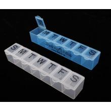 Caixa plástica do comprimido de 7 dias com Braille Plb22