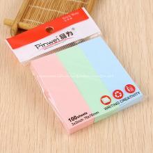 Notas adhesivas Mini promocionales con 3 Color