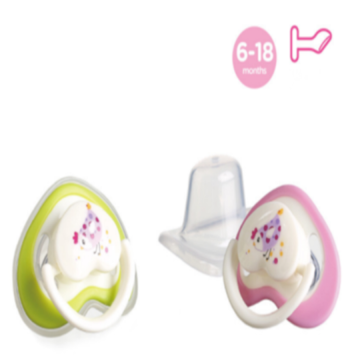 Bayi silikon Pacifier Flat Heart Shape Nipple