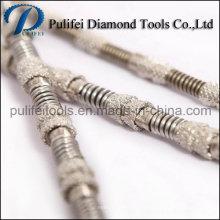 Alambre de corte de diamante electrochapado para herramientas de sierra de diamante de mármol