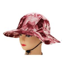 diseño OEM al por mayor su propio logotipo patrón personalizado impreso sombrero de cubo barato de alta calidad con hilo