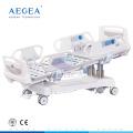 Роскошные icu автоматические электродвигатель наклона положения кресла, регулируемые медицинские больничные койки для сбывания