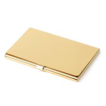 Gravado bronze polido cartão de visita caso - gravura livre
