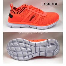 Lady sport elastic flyknit shoes