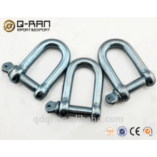 Europe type large dee galvanized d shackle hardware