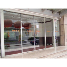 Automatic Sliding Door with Silver Frame