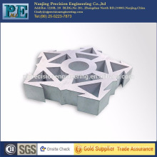 High precision machining laser cutting aluminium decorative machining parts