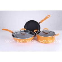 Utensilios de cocina Set de cocina de aluminio con revestimiento de mármol