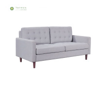 Cafe&Home Use Wood Legs Fabric Double Sofa