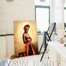 Handmade, mulher, indianas, quadro, parede, decoração