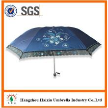 Alto Quanlity China Lace Parasols para la venta OEM reflexivo del paraguas del sol