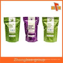 Fornecedor de China prova de umidade por atacado grau alimentar impresso folha laminada ziplock saco
