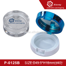 Round compact powder plastic case with mirror
