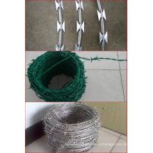 Колючая проволока бритвы колючая проволока Покрынная PVC колючая проволока
