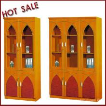 export popular model cherry wooden bookcase 2 doors 3 doors