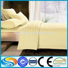 100% algodão 300TC sateen stripe tecido folha de cama