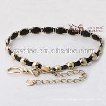 Cintura de las mujeres de la manera en cuero genuino el mejor diseño de YIWU DISHA