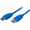 USB 3m V3.1 AM-AM nickel plated BLUE JACKET cable