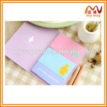 Kawaii notas personalizadas personalizadas em diferentes formas de animais, comprar no mercado da China