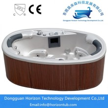 oval form 2 platser spa bubbelpool