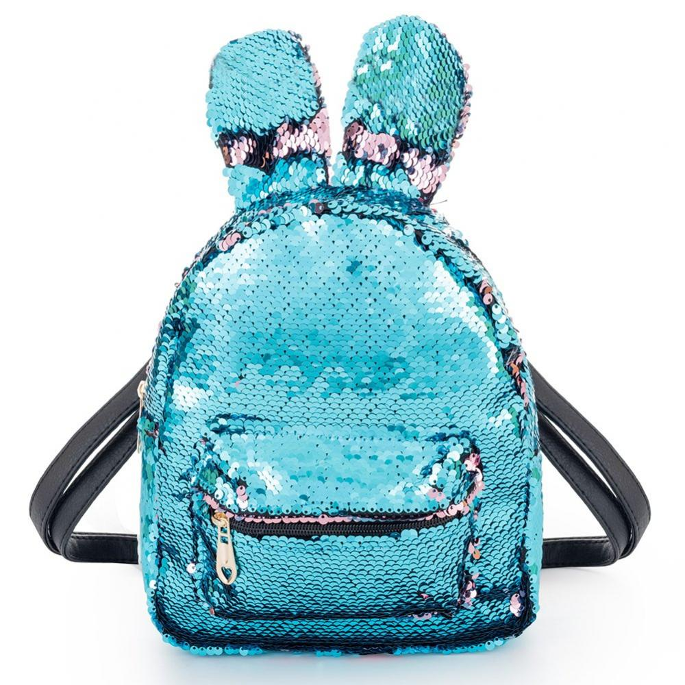 Rabbit Sequin Backpack 1