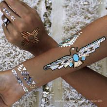 Tatuagem provisória metálica feita sob encomenda do tatuagem do Henna