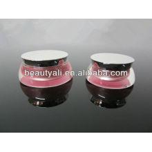 15ml frasco de scallop de 30ml acrílico para cosméticos de creme