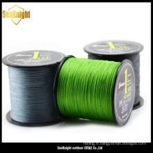 Haute qualité différente couleur PE tressé fil de pêche