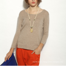 17PKCS154 2017 knit wool cashmere knitted lady sweater