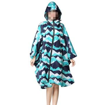 Unisex Hooded Zip up Rain Poncho Waterproof Raincoat