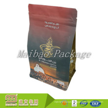FDA Approved Customized Logo Branded Square Bottom 250g Coffee Bag With Valve And Zip