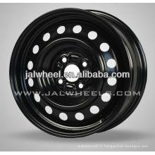 "Factiry Price 15 ""Black Steel Wheel of Car pour le marché canadien"