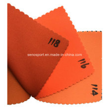 Material impermeable del traje de neopreno anaranjado elástico (SNNF02)