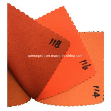 Matériau imperméable à l'élastique en néoprène en néoprène d'orange (SNNF02)