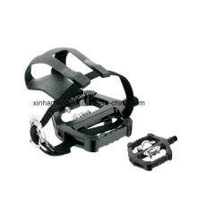 Aluminum Body and Nylon Cage Bicycle Pedal for Ecercise (HPD-019)