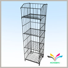 Bodenbelag Stand Powder Coated Metall Draht Stoff Display Rack