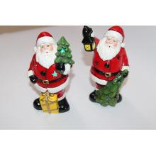 17cm Stand-up Santa Claus Ceramic Table decoraciones XMAS