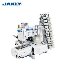JK4412P Multi-aguja Industrial Cilindro cama 12 aguja doble cadena puntada máquina de coser maquinaria
