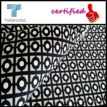 Floral impreso satén tela/Spandex suavidad raya satén tapicería tela Spandex satinado personalizado para Uniqlo