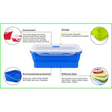 Set di 4 Lunch Box in silicone per bambini