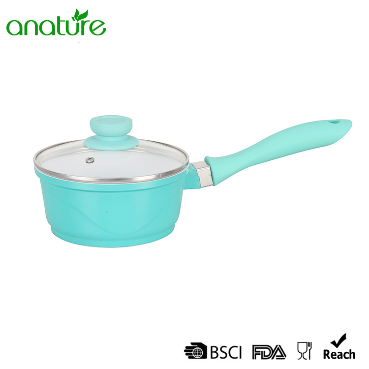Die Casting White Ceramic Nonstick Coated Kitchen Sauce Pot