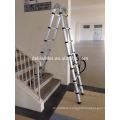 Euro Double Telescopic Aluminium ladder 5 meter (17 feet) -Stores at 3 feet -A Frame 9 feet -Ultra Portable - Rapid unlock hinge