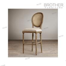 Антикварные ткани высокая стул бар стулья дерево под бар