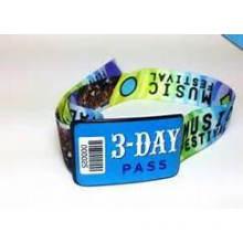 Wholesale Custom Fashion Woven Wrist Band with Lock